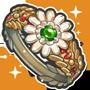 꽃수정 반지